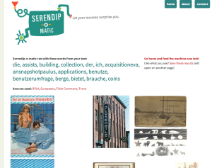 Serendip-o-matic Suchergebnis zur Zotero-Bibliothek